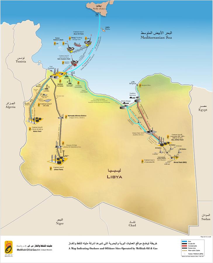 خريطة مواقع الشركة
